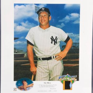 Mickey Mantle Cooperstown Collection Negative Display 1650/2500 Very Rare!