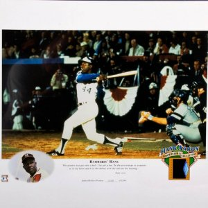 Hank Aaron Cooperstown Collection Photo Negative Display 1068/2500 Very Rare!