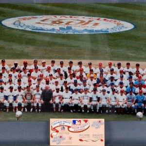 1983 All-Star Game - Supersized Old Timers Day Photo and Ticket