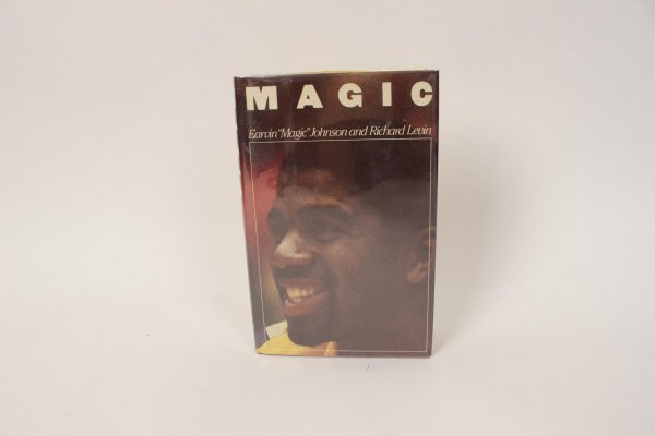 "Los Angeles Lakers - Earvin Magic Johnson (Full Name) Signed Autographed Inscribed ""Best Wishes"" - ""Magic"" Hardcover Book"