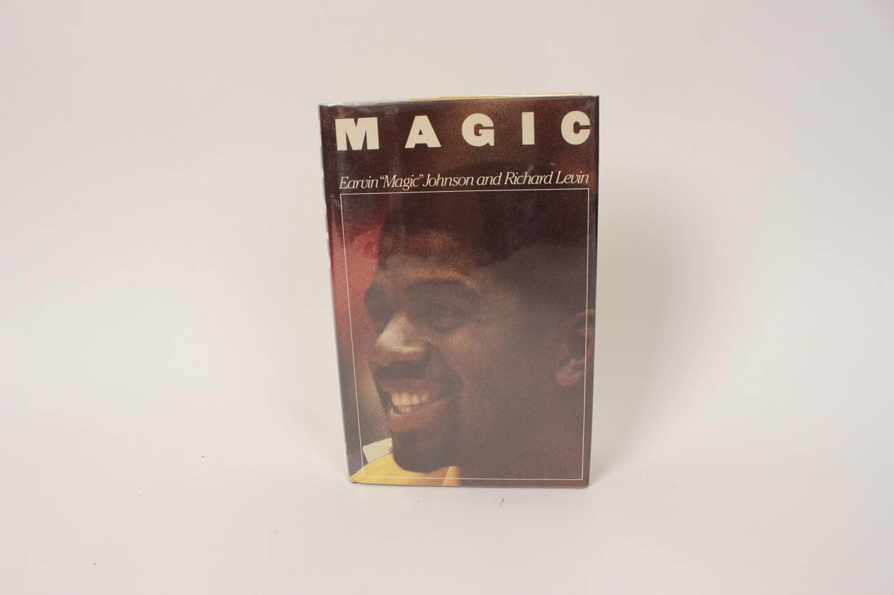 "Los Angeles Lakers – Earvin Magic Johnson (Full Name) Signed Autographed Inscribed ""Best Wishes"" – ""Magic"" Hardcover Book83329_01_lg"