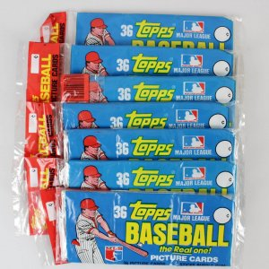 1981 Topps Baseball Card Rack Pack Lot (7) feat. Nolan Ryan, Steve Carlton etc.