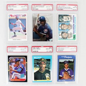(6) Baseball PSA Graded 9 & 10 Rookie Card Lot Incl.1989 Salem Dodgers Mike Piazza GEM MT 10