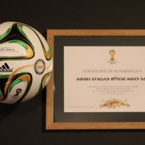 A 2014 FIFA World Cup Final Game-Used Match Ball.  Germany v Argentina (1-0).  Rio de Janeiro, Brazil.