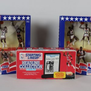 Lot of NBA Starting Lineups - 1992 Dream Team & Jordan Headline Collection