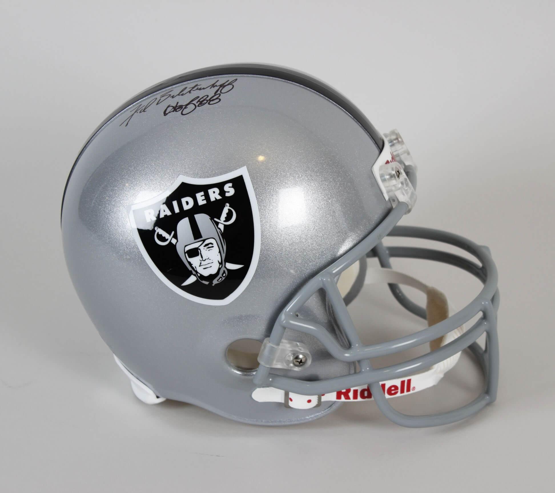 pretty nice f2969 3c80d Fred Biletnikoff Signed Helmet Raiders - COA