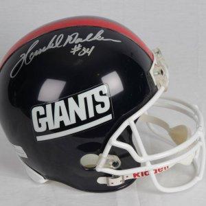 Herschel Walker N.Y. Giants Signed Inscribed (# 34 ) Replica Riddel Full Size Helmet Photo From Signing
