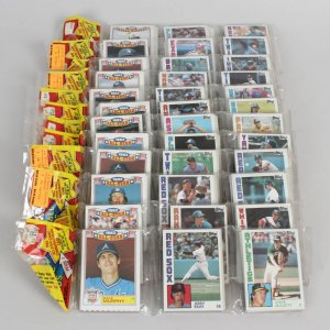 (12) 1983 Topps Baseball Card Rack Packs Lot (Possible Ryne Sandberg, Tony Gwynn Rookies)