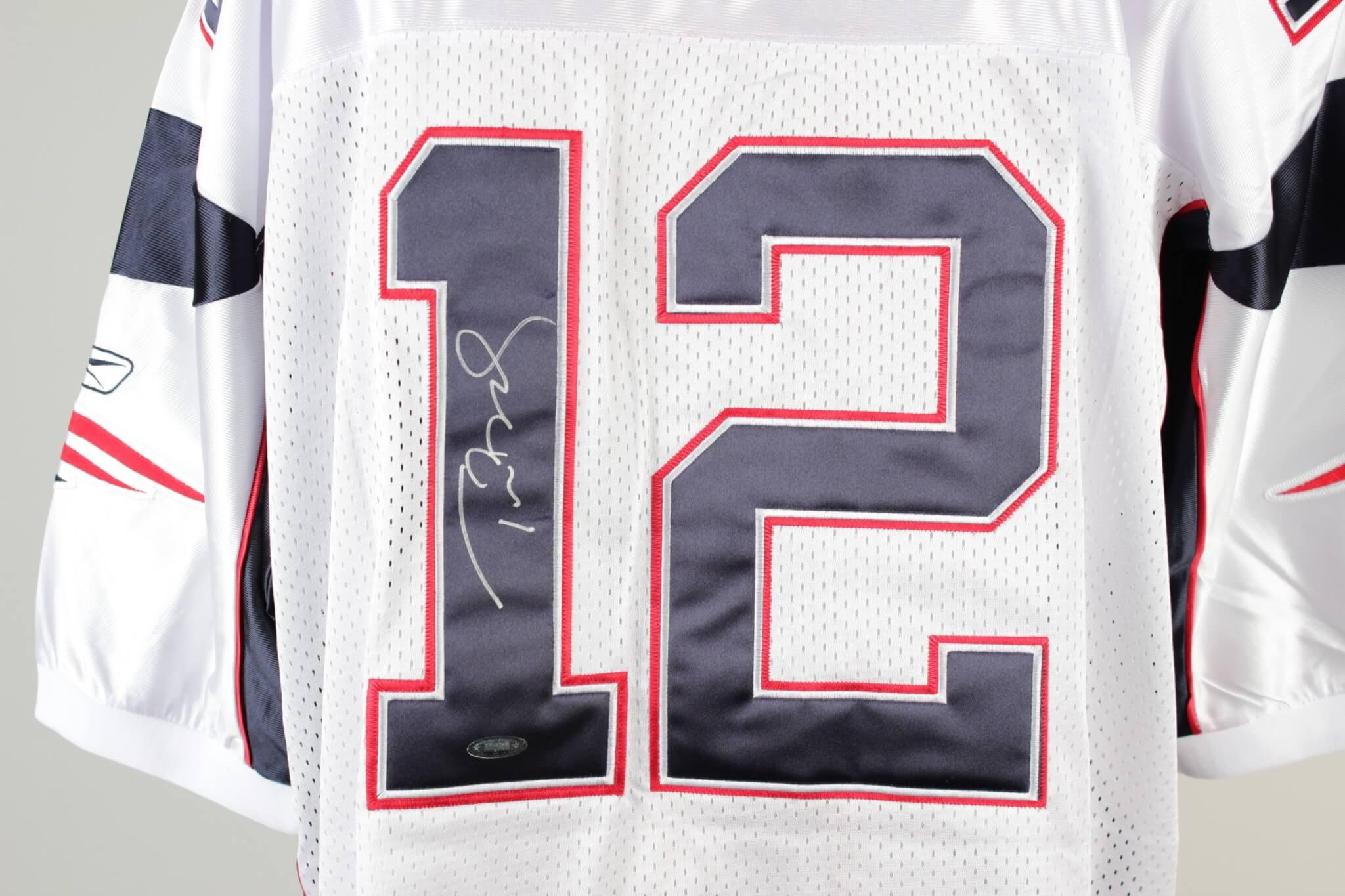 895a6f26cf9 Patriots Tom Brady Signed Reebok Authentic White Jersey (Tristar) |  Memorabilia Expert