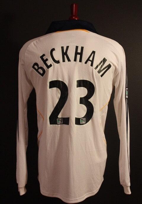 2aa5b192d A David Beckham Game-Used  23 LA Galaxy Home Shirt. 2007 MLS Season (David s  Debut Season in MLS).