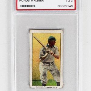1909 E95 Philadelphia Caramel Card - Honus Wagner (PSA Graded VG3 - Encapsulated as T206)