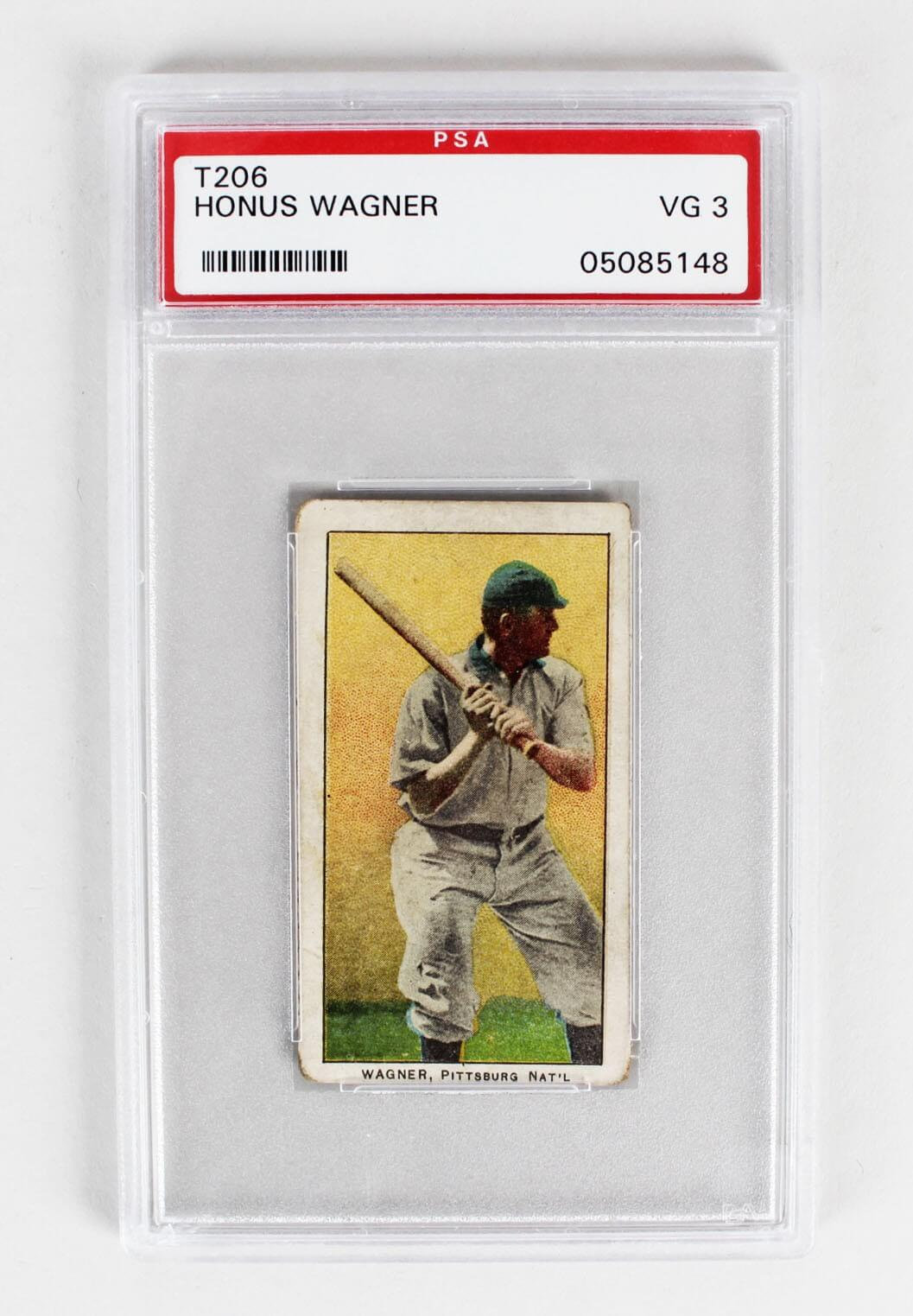 1909 E95 Philadelphia Caramel Card - Honus Wagner (PSA Graded VG3 - Encapsulated as T206)