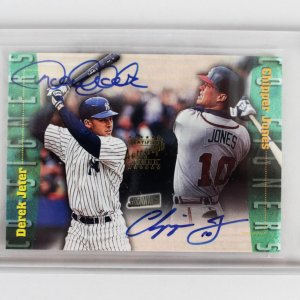 Jeter & Cipper Jones Signed Topps CS4 Card