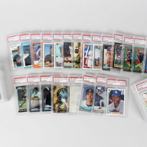 Mega Lot (42) PSA Graded 9 & 10 Sports Cards Rookies, HOFers - Sandberg, Chipper Jones, Shaq, Griffey etc.