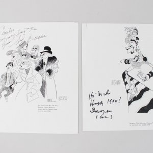 Imogene Coca & Sid Caesar Signed Inscribed Hirshfield 8x10 Prints - COA