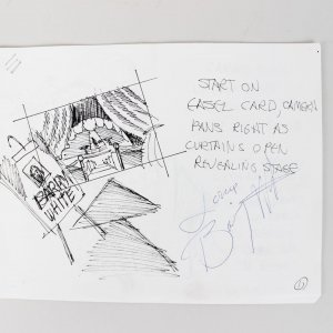 Barry White Signed & Inscribed (Love) Production Scene Cards Bud Light Commercial