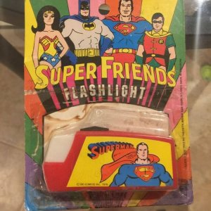 1976 Nasta Super Friends DC Comics Flashlight - Superman