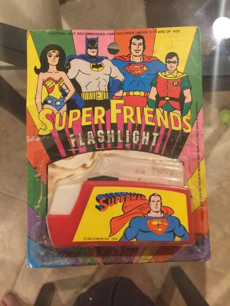1976 Nasta Super Friends DC Comics Flashlight - Superman