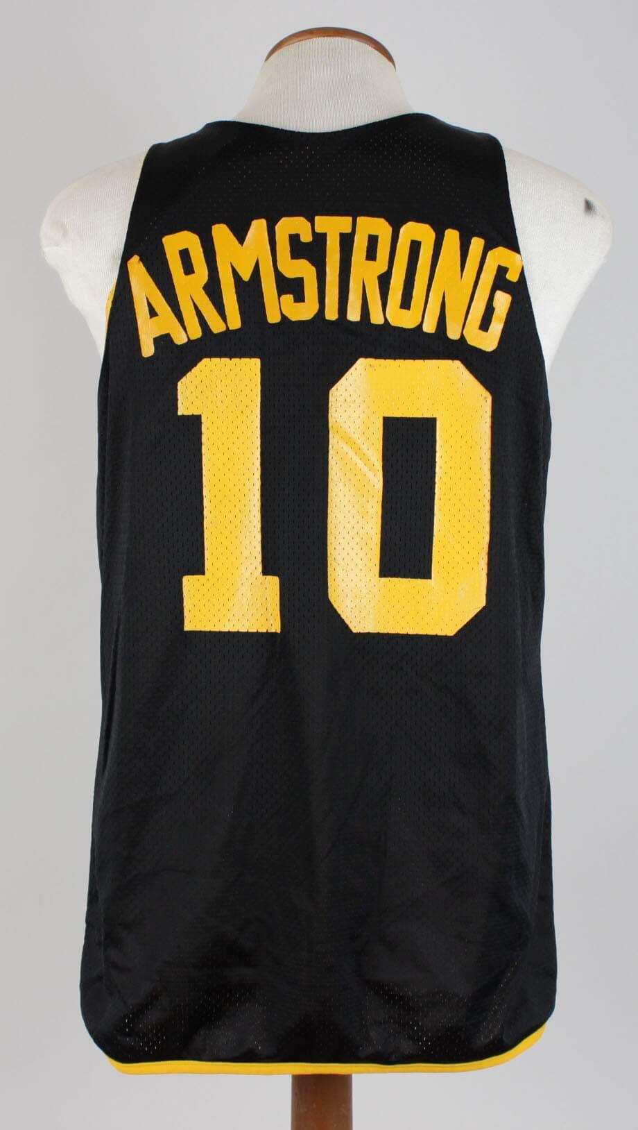 0fe4eabb8 1985–89 University of Iowa – B. J. Armstrong Game-Worn Practice Jersey