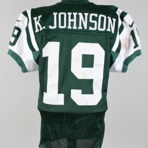 1999 New York Jets - Keyshawn Johnson Game-Worn (Pre-Season) Home Jersey