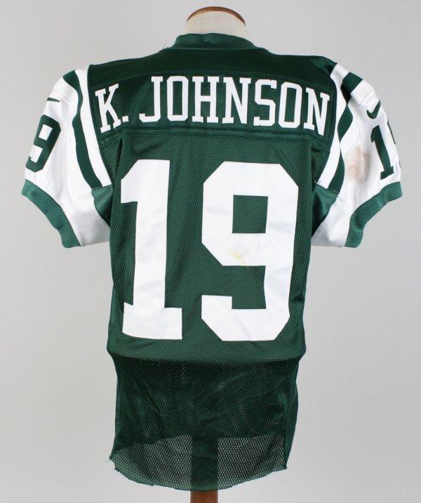 1999 New York Jets - Keyshawn Johnson Game-Worn Home Jersey