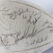 1983 Los Angeles Raiders Super Bowl Champs Team-Signed ONFL (Rozelle) Football 52 Sigs. Howie Long, Lyle Alzado, Jim Plunkett etc.