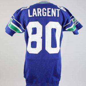 1989 Steve Largent Game-Worn Seahawks Jersey (Final Season In NFL) worn Sept. 10, 1989