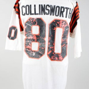 80s Cris Collinsworth Game-Worn Bengals Jersey (w/ Linebacker Coach Letter)