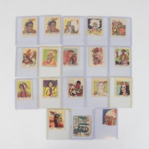 1930s R184 & R185 Indian Chiefs & Westerns Non-Sport Trading Card Lot (18)