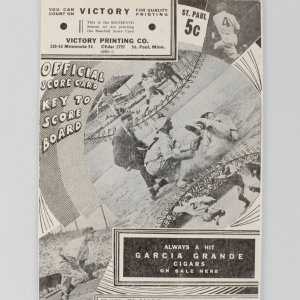 1938 Minneapolis Millers Score Card Ted Williams