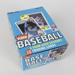 1982 Fleer Baseball Card Cello Wax Box (24 packs) Feat. Cal Ripken, Jr. Rookie