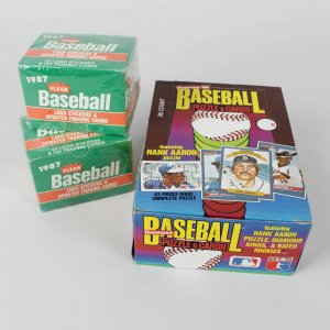 1989 Donruss Baseball Wax Box - 36 Packs - Griffey (R) & (2) 1987 Fleer Update Sets Maddux (R)