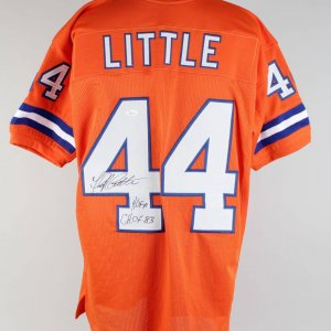 Broncos Floyd Little Signed & Inscribed Jersey (JSA)
