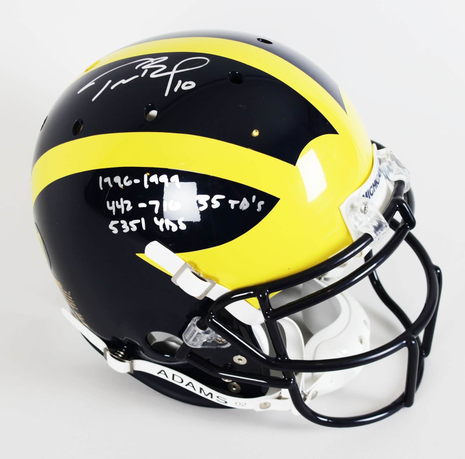 pretty nice 94f40 03afc Michigan Wolverines-Tom Brady Signed & Inscribed Authentic Helmet (TriStar)