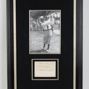 """Good luck Jim Walter Hagen Nov 2nd 1931"" Signed Cut Display COA JSA"