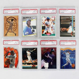 Mega Lot (39) PSA Graded 8, 9 & 10 Sports Cards RC's, HOFers-Thomas, Piazza, Griffey, Jr. etc.