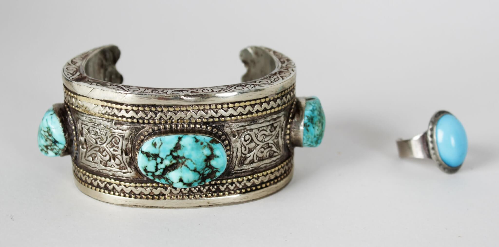 for gift dropshipping turquoise bangle in bracelet from head penny jewelry bangles indian bracelets item american native vercret silver