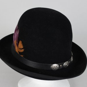 Jimi Hendrix Owned / Worn Decorated Black Trilby Hat (Hendix's Roadie, Tappy Wright LOA)