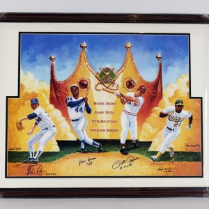The Kings- Ryan, Aaron, Rose & Henderson Signed 27x36 LE Ron Lewis Litho- JSA Full LOA