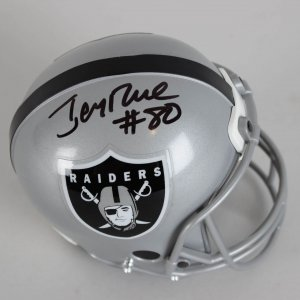 Raiders - Jerry Rice Signed Goal Line Coin Bank