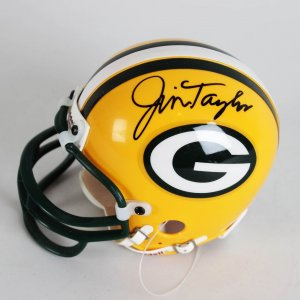Green Bay Packers - Jim Taylor Signed Mini Helmet - JSA