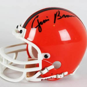 Cleveland Browns - Jim Brown Signed Mini Helmet - JSA