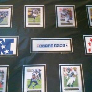 Seattle Seahawks Special Edition Topps Card Set Display