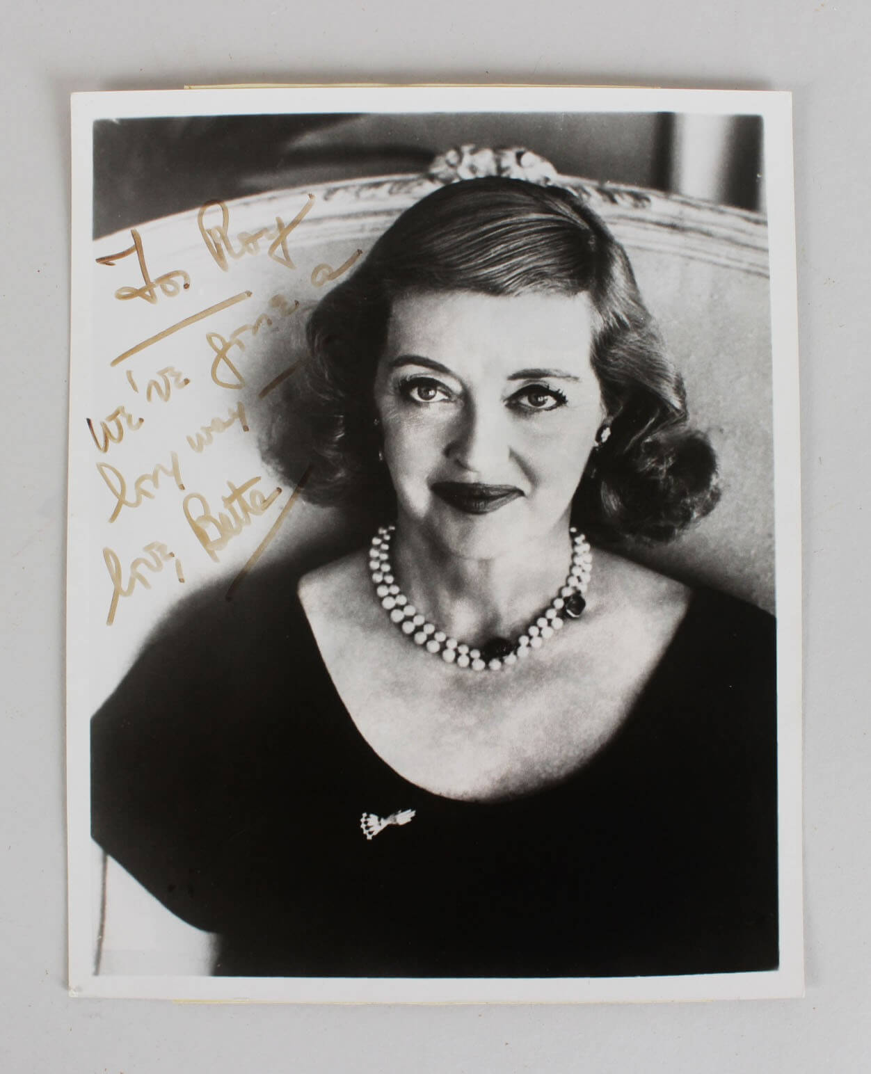 Bette Davis Signed Photo – COA JSA