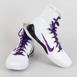 2014 Lakers Kobe Bryant Game Worn & Signed & Inscribed Shoes