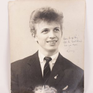 1957 Teen Idol - Tommy Steele Signed, Inscribed 18x20 Vintage Photo Poster - JSA