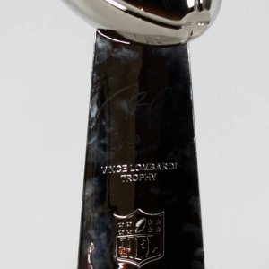 "2015 New England Patriots Tom Brady Signed & Inscribed ""4x SB Champ"" Vince Lombardi Super Bowl Trophy LE 7/12  (TriStar)"