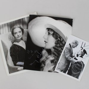 Old Hollywood Lot - Lillian Gish & (2) Mary Pickford Signed Photos - JSA