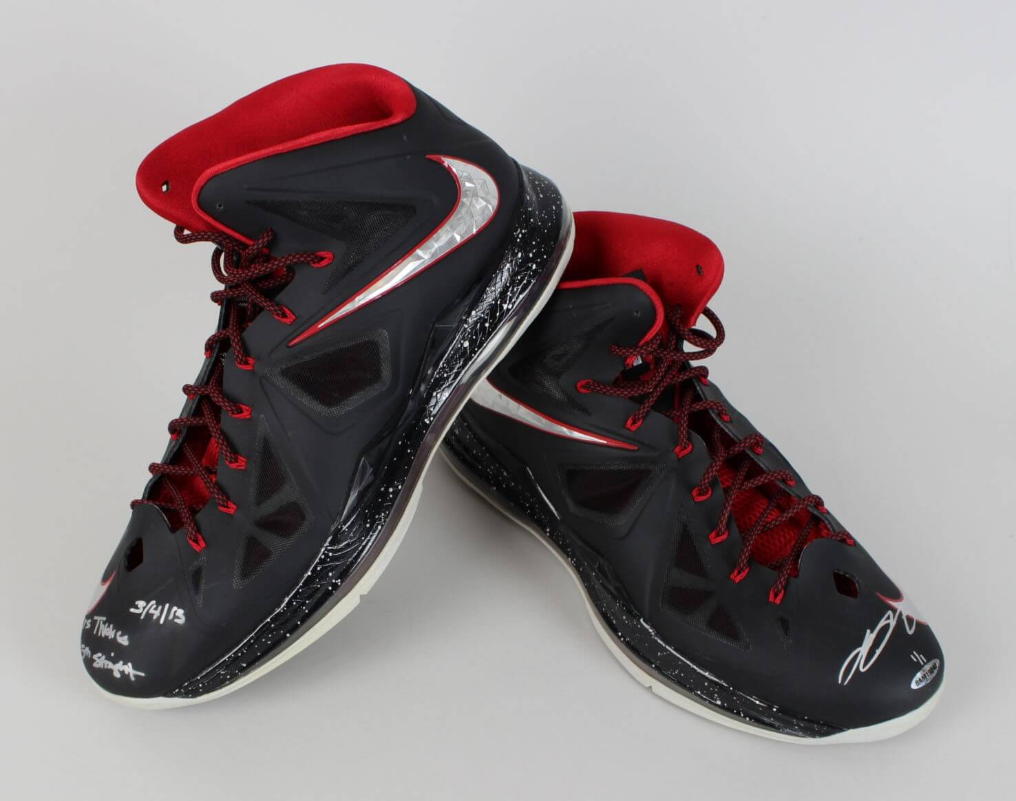 March 4, 2013 Minnesota Timberwolves vs. Miami Heat - LeBron James Game-Worn & Signed Sneakers Shoes (UDA COA)