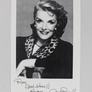 "Jane Russell Signed & Inscribed 5 x 8.5"" B&W Photo - JSA"